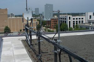 Cell boosters and cell repeaters on a roof